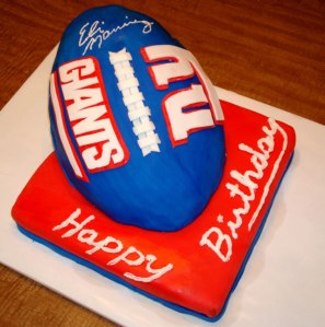 New York Giants birthday cake